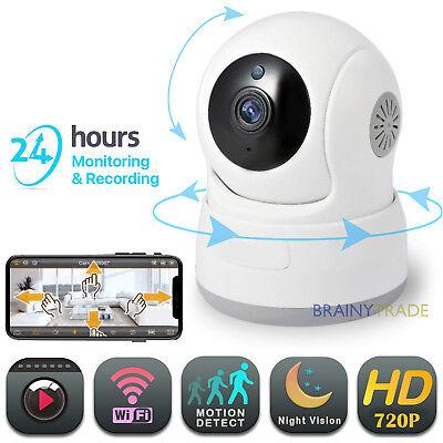 Wireless Pan/Tilt IP Security Camera Network CCTV IR Night Vision WiFi Cam 720P