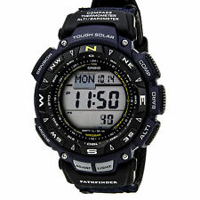 Casio Men's PAG240-1CR Pathfinder Solar Powered Triple Sensor Blue Nylon Watch
