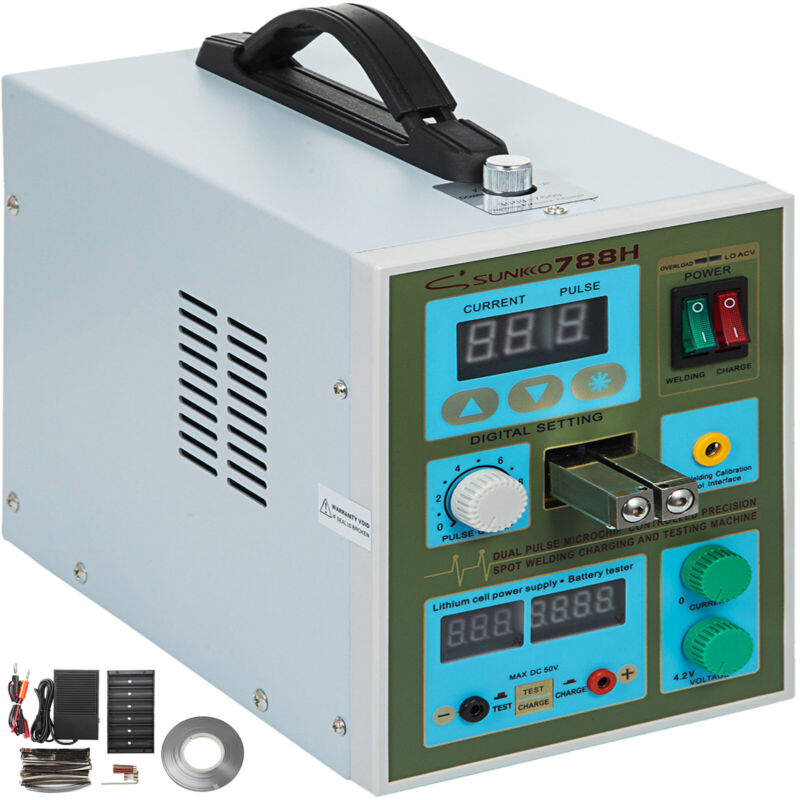 Battery Spot Welder SUNKKO 788H Dual Pulse for 18650 Battery Charge 1.9KW 800A