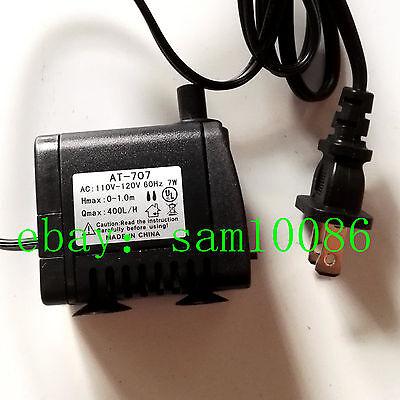 Ac 110v 7w Small Submersibl Water Pump Condensed Water Circulation Pump Us Plug