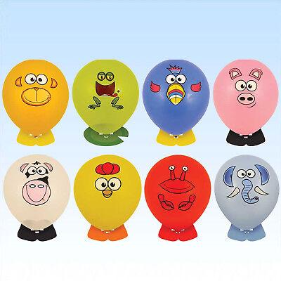 8 Ballons Tierköpfe mit Fuß Luftballons Dekoration Kindergeburtstag Party ()