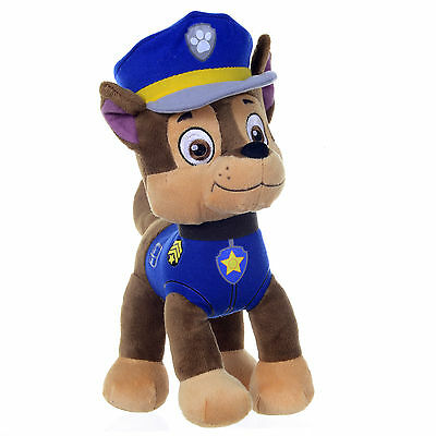 """NEW OFFICIAL 12"""" PAW PATROL CHASE PUP PLUSH SOFT TOY NICKELODEON DOGS"""