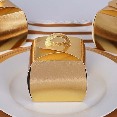 25 pcs GOLD Cupcake Purse FAVORS BOXES Wedding Party Decorations GIFT Supply