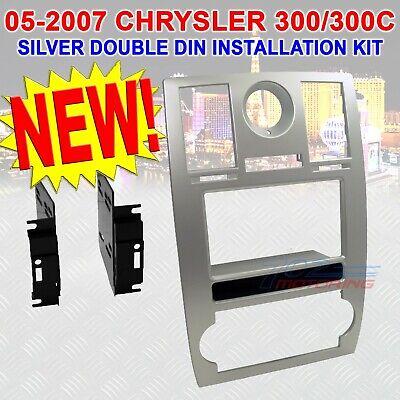 05 06 07 CHRYSLER 300 SILVER CAR RADIO STEREO INSTALLATION Dash Kit Trim
