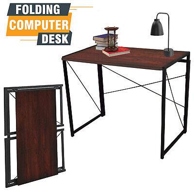Desk Computer Foldable Office Workstation Study Writing TableDesk Natural Black