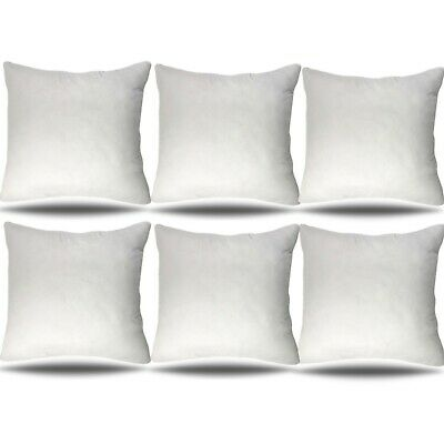 30x30 Pillow Insert, Set of 6, Throw Pillow Stuffer Square Bolster Cushion White ()