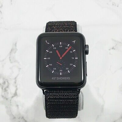 Apple Watch Series 3 38mm Space Gray with Black Nylon Loop GPS Cellular LTE
