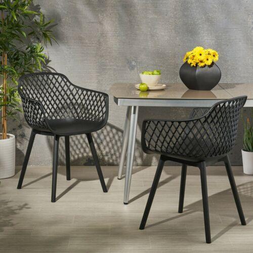 Tate Outdoor Modern Dining Chair (Set of 2) Home & Garden