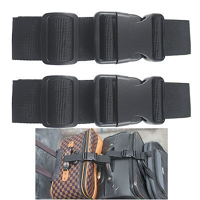 2 X Add a Bag Luggage Strap Travel luggage belt luggage attachment