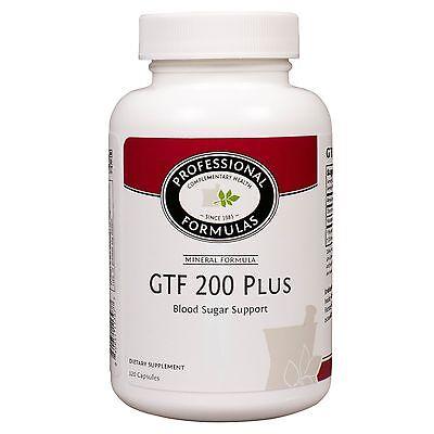 - GTF 200 PLUS BY PROFESSIONAL FORMULAS SUPPORTS HEALTHY BLOOD SUGAR LEVELS