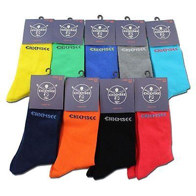 4 Paar farbige Chiemsee Herrensocken Socken Strümpfe 39-42, 43-46 UVP: 39,98€