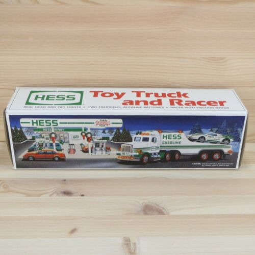 1991 HESS TOY TRUCK AND RACER - MINT IN BOX