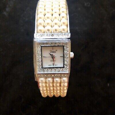 BRAND NEW VIVANI Ladies Wrist Watch Cuff Silver Tone With Quartz And -