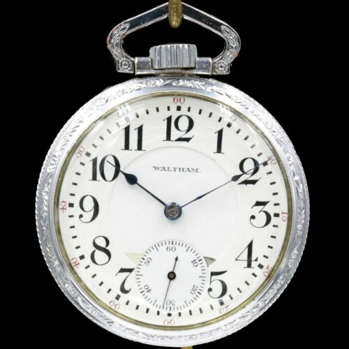 1915 Waltham 21 Jewel Crescent St RAILROAD Grade Pocket Watch Large 16s Antique
