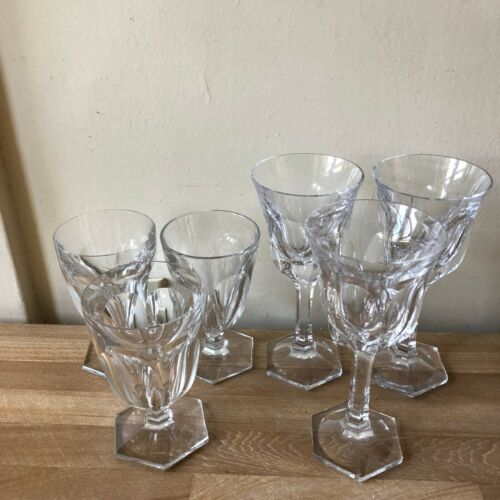 Lovely Set of 6 Moser Pope Drinking Glasses