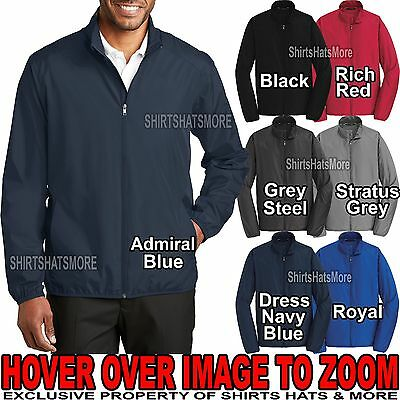 Mens Full Zip Jacket Windbreaker Water Resistant Golf XS-XL,