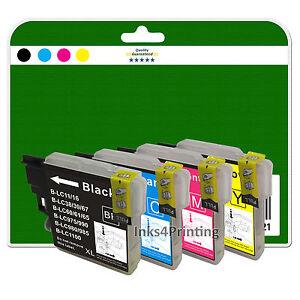 4 ink cartridges for brother dcp 145c 165c 167c 195c 197c non oem lc980 ebay. Black Bedroom Furniture Sets. Home Design Ideas