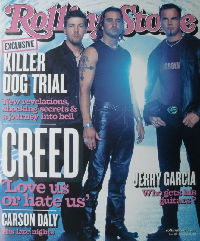 """CREED """"GROUP ON THE COVER OF 2002 ROLLING STONE"""" POSTER-Scott Stapp,Alter Bridge"""