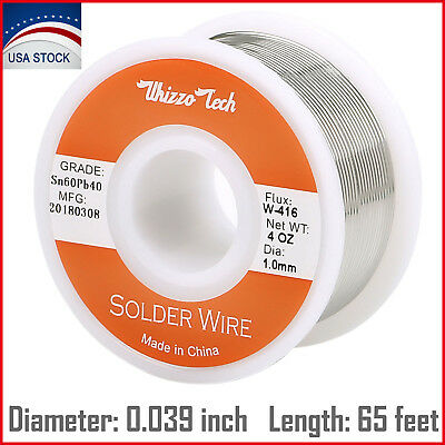 6040 Tin Lead Rosin Core Solder Wire Soldering Sn60 Pb40 Flux .0391.0mm 100g