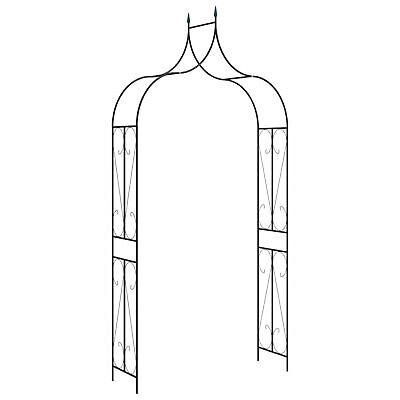 Garden Arch Black 120cm Iron Home Lawn Outdoor Archway Pergola Trellis