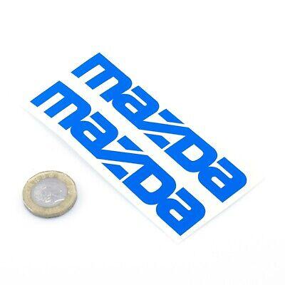 Mazda Stickers Decal Car Vinyl 100mm x2 Mazda Text MX5 Miata RX7 RX8 Decal