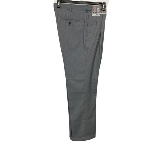 Roundtree & Yorke Travel Smart Ultimate Comfort Classic Fit Pants 36×32 Grey Clothing, Shoes & Accessories