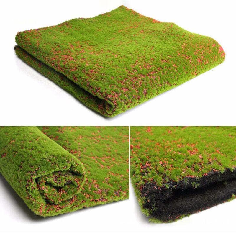 Artificial Moss Mat Fake Grass Plant Carpet Rug for Wedding Office Home Decor US