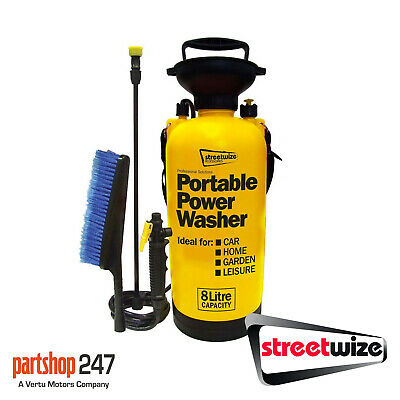 Streetwize Portable 8 Litre Car Home Garden Hand Portable Power Jet Wash Washer
