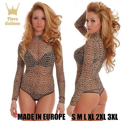 Tiger Mesh (Tiger Mesh Tulle Women Bodysuit turtle mock neck see through thong 339 Leotard)