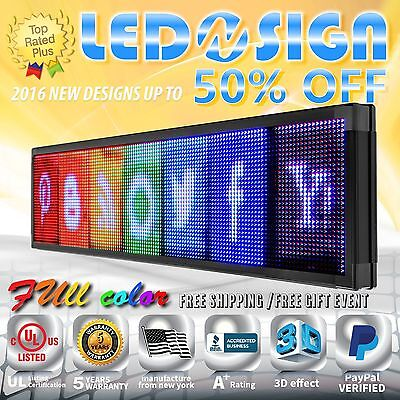 Led Sign Full Color 41x98 Programmable Emc Scrolling Readerboard Outdoor Sign