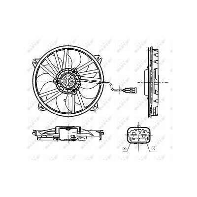 Fits Citroen DS4 2.0 BlueHDI 180 Genuine NRF Engine Cooling Radiator Fan
