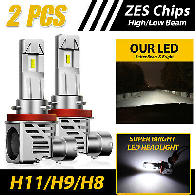H11/H9/H8 120W LED Headlight Kit  High/ Low Beam Bulb Super Bright 6500K 24000LM