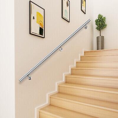 Pasamanos de Escaleras de Acero Inoxidable Barandillas Escalera con Soporte 5ft