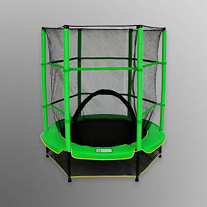 4 5ft junior trampoline avec filet de s curit enfants en for Trampoline interieur