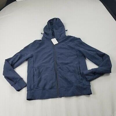 Save Khaki United sweatshirt hoodie zip front large blue long Sleeves