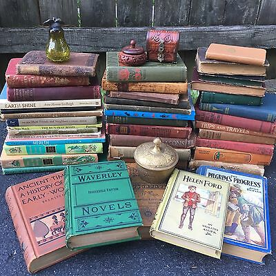 Antique Lot Of 10 Old Vintage Books Religious Childrens Literature Hardcover