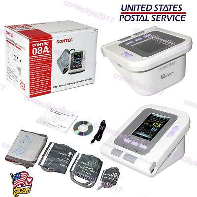Contec08a Digital Blood Pressure Monitor Adultpediatric Upper Arm 4 Cuffspc Sw