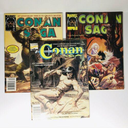 CONAN Saga 69,70,72 Magazine LOT of 3 Magazines 1992/1993