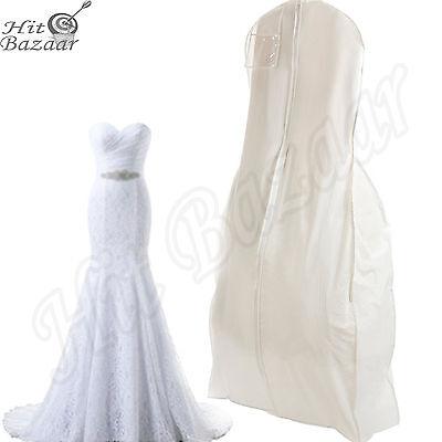 Bridal Garment (BRIDAL WEDDING DRESS Storage Gown Prom Garment Bag Center Zipper Large White  )