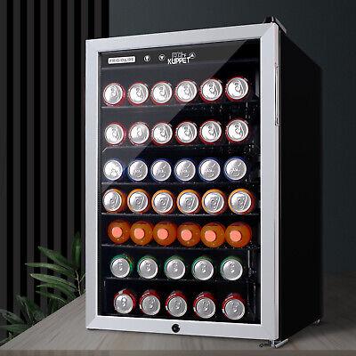 150 Cans 4.5 Cu.ft. Mini Fridge Beverage Cooler Soda Beer Bar Stainless Steel