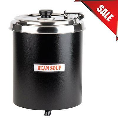6 Qt. Black Soup Kettle Warmer Food Commercial Restaurant Chili Nacho Cheese