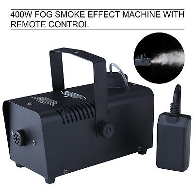 400W Smoke Fog Machine Stage Fogger Effect Equipment with Remote DJ Show Black