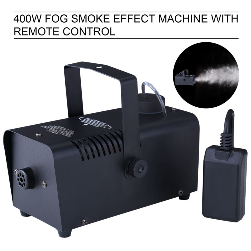 400w Smoke Fog Machine Stage Fogger Effect Equipment With Remote Dj Show Black