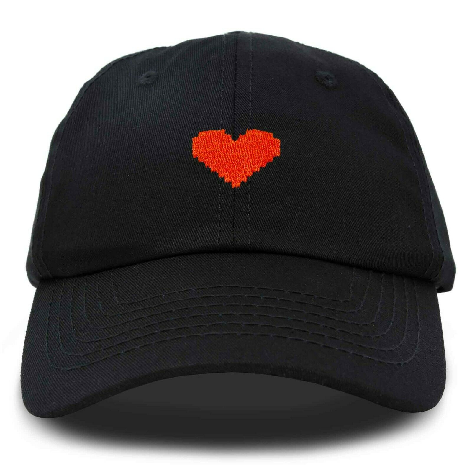 DALIX Pixel Heart Hat Womens Dad Hats Cotton Caps Embroidered Valentines Clothing, Shoes & Accessories