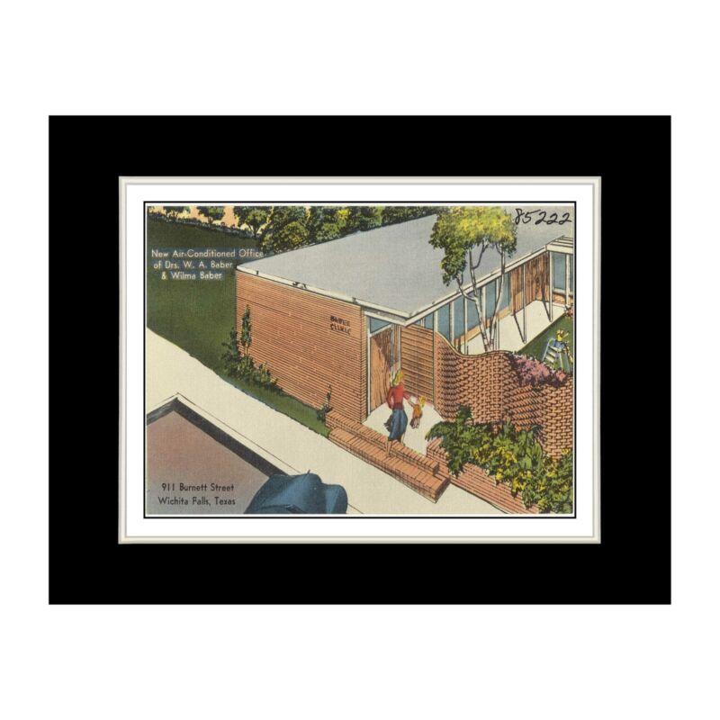 Texas Postcard Reprint - Baber Clinic, 911 Burnett Street, Wichita Falls, Texas