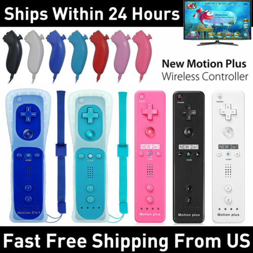 Built in Motion Plus Game Remote Controller And Nunchuck For Nintendo Wii Wii U