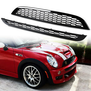 Painted Black Mesh Grille Grill For Mini Cooper 01-06 R50 R53 R53 JCW BUMPER S