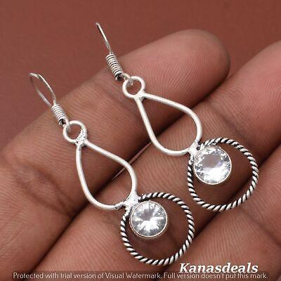 Thanksgiving Gift 3.5 Gm Zircon 925 Sterling Silver Plated Earring ER-28305