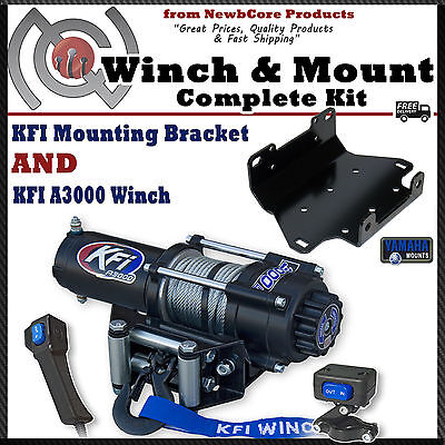 KFI 3000 lb Winch Combo for 2007-2015 Yamaha Grizzly 550 700 (100610)