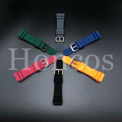 22 MM Black Silicone Rubber Watch Band Strap Fits Seiko Diver 2020 Model SKX  22mm Rubber Strap